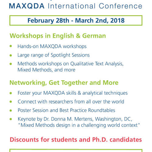 MAXQDA International Conference - MQIC 2018