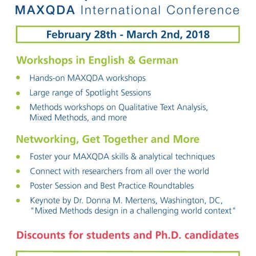 MAXQDA International Conference - MQIC 2018